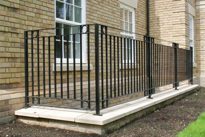 Bespoke railings.