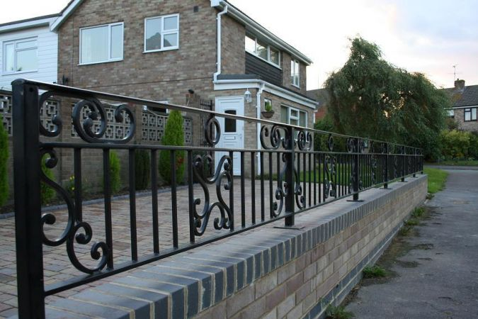 Wrought Iron railing.